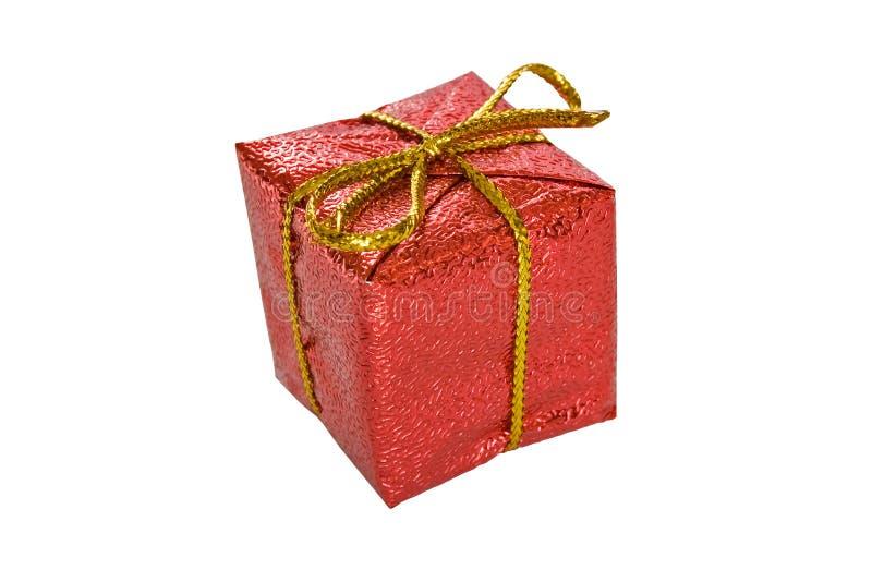 Download Rectángulo De Regalo De La Navidad Aislado En Blanco Imagen de archivo - Imagen de solo, navidad: 7287731