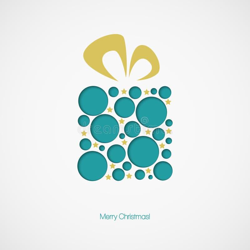 Rectángulo de regalo de la Navidad Ilustración del vector libre illustration
