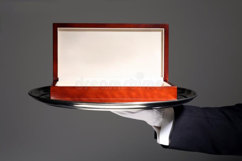 Rectángulo de regalo de madera de lujo foto de archivo
