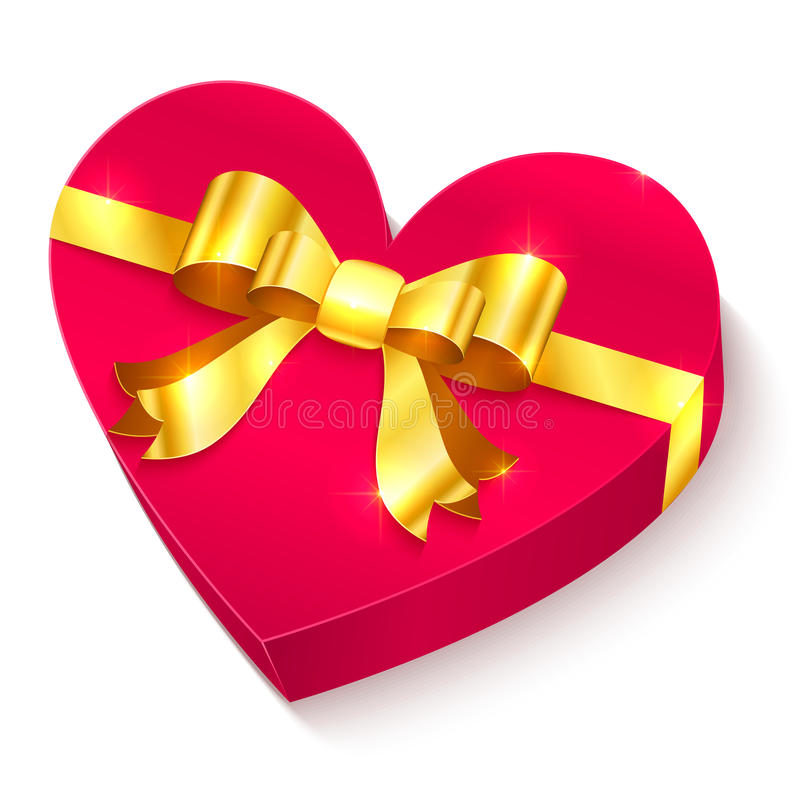 Rectángulo de regalo del corazón del día de tarjetas del día de San Valentín 3D libre illustration