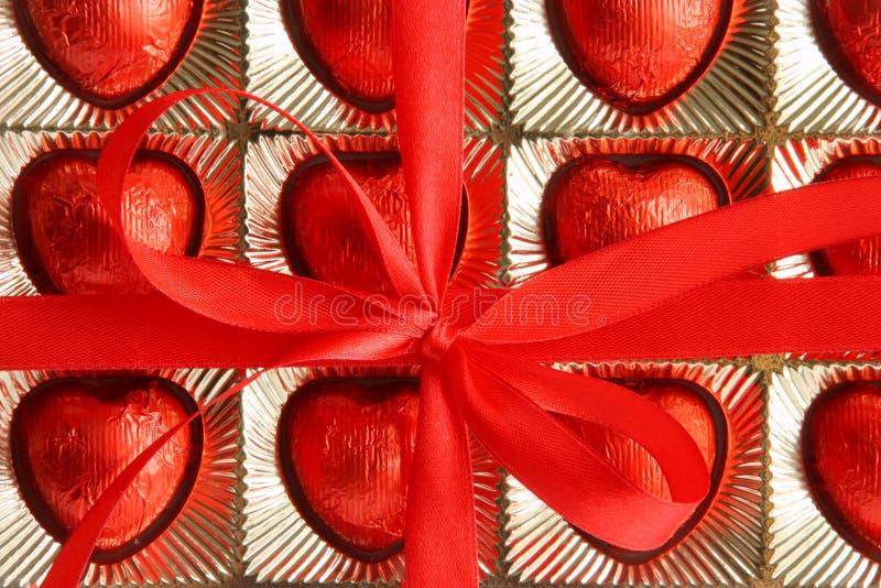 Rectángulo de regalo del día de las tarjetas del día de San Valentín o de madres - foto común imagenes de archivo