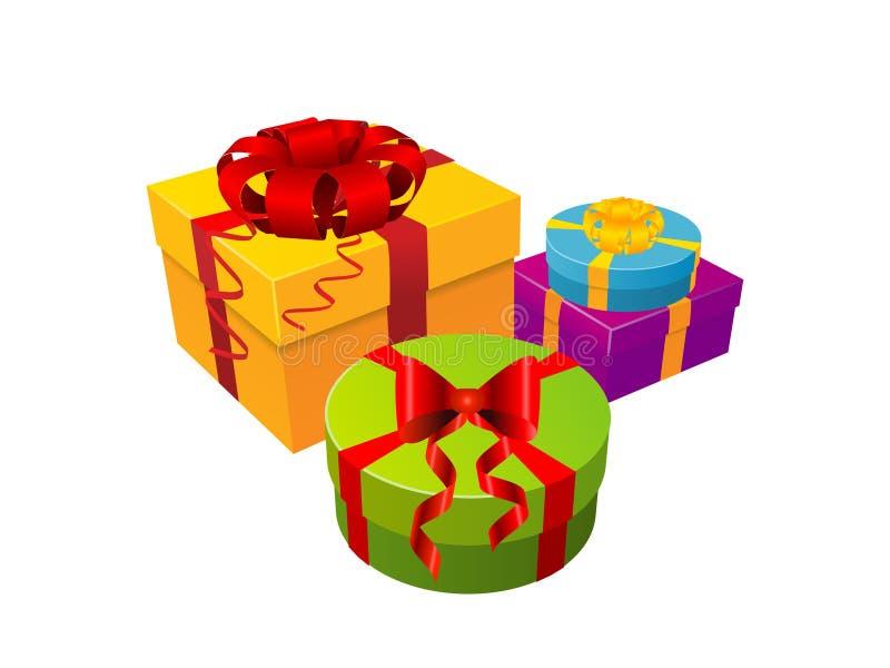 Rectángulo de regalo en blanco libre illustration