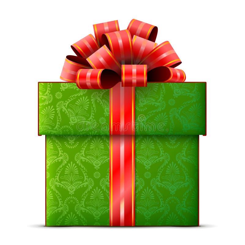 Rectángulo de regalo en el fondo blanco libre illustration