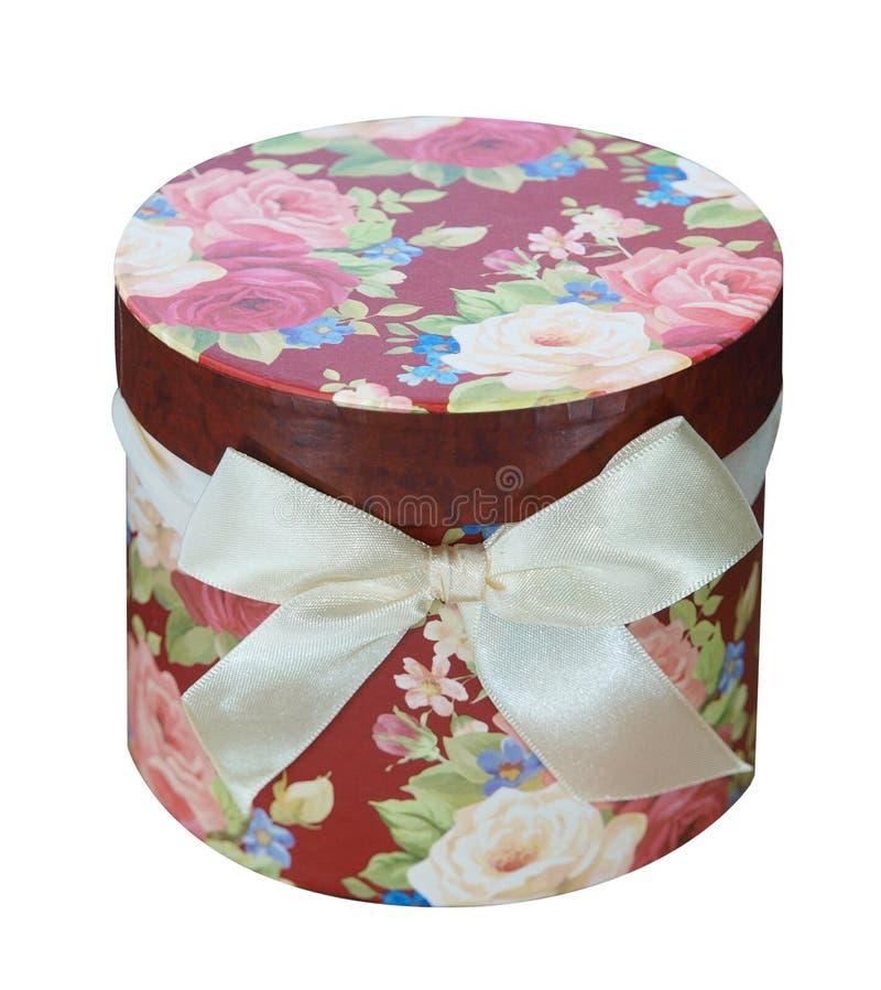 Rectángulo de regalo floral redondo fotos de archivo libres de regalías