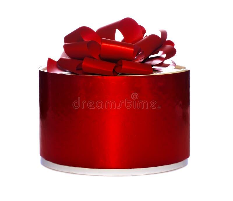 Rectángulo de regalo redondo foto de archivo libre de regalías