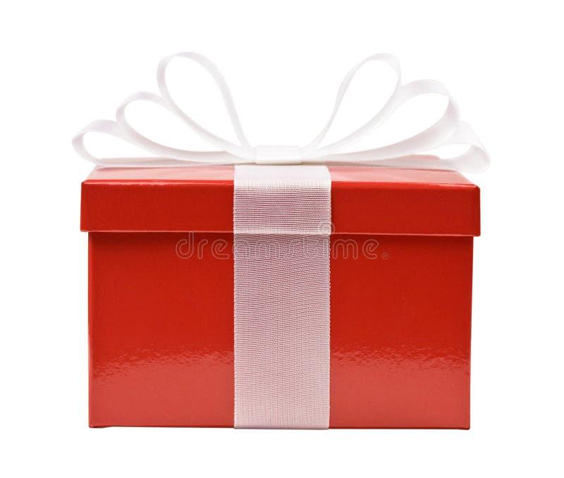 Rectángulo de regalo rojo foto de archivo libre de regalías