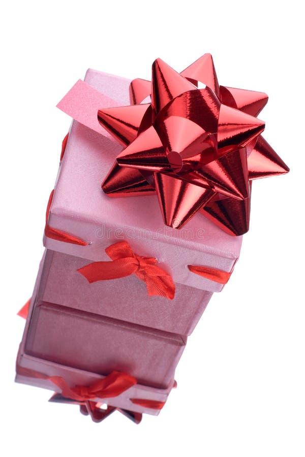 Rectángulo de regalo rosado foto de archivo libre de regalías