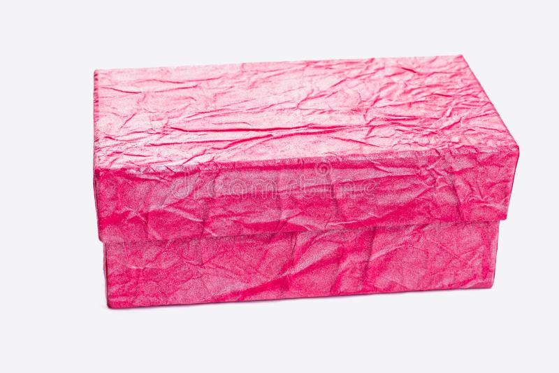 Rectángulo de regalo rosado hermoso fotografía de archivo libre de regalías