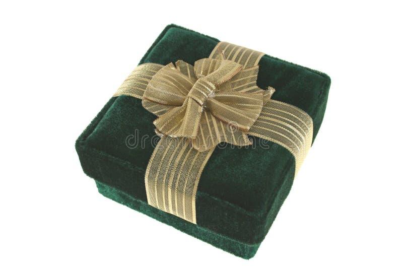 Caja de regalo verde fotografía de archivo