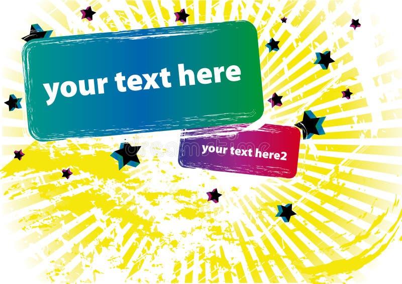 Rectángulo de texto de Grunge stock de ilustración