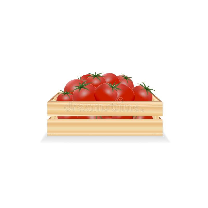 Rectángulo de tomates stock de ilustración