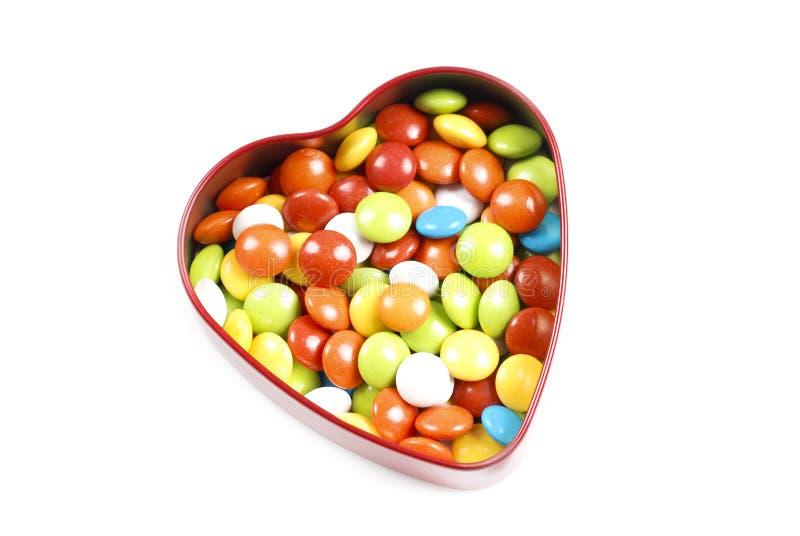 Rectángulo del caramelo de la dimensión de una variable del corazón imagenes de archivo