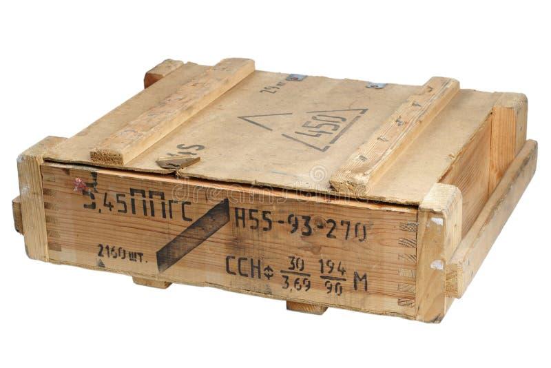 Rectángulo del ejército de munición foto de archivo libre de regalías