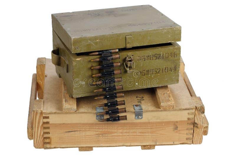 Rectángulo del ejército de munición imagen de archivo libre de regalías