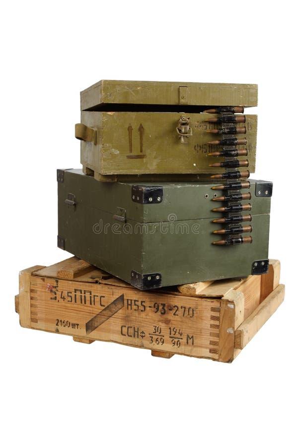 Rectángulo del ejército de munición fotos de archivo