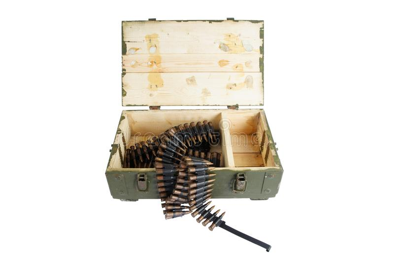 Rectángulo del ejército de munición fotografía de archivo