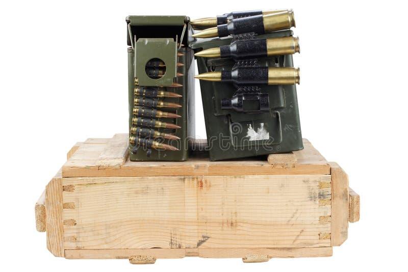 Rectángulo del ejército de munición imagen de archivo