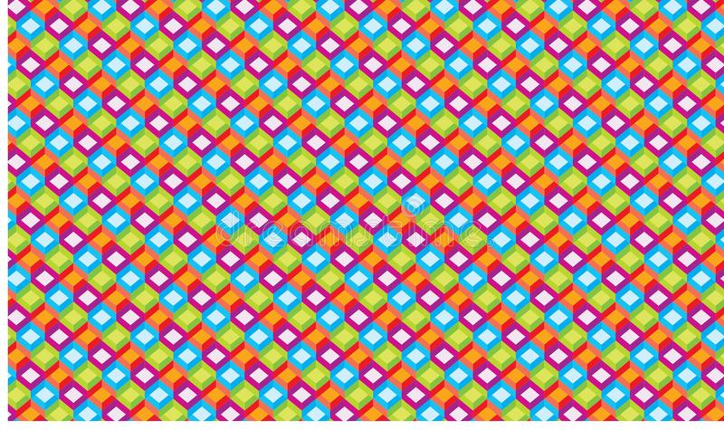 Rectángulo del fondo a todo color fotos de archivo libres de regalías