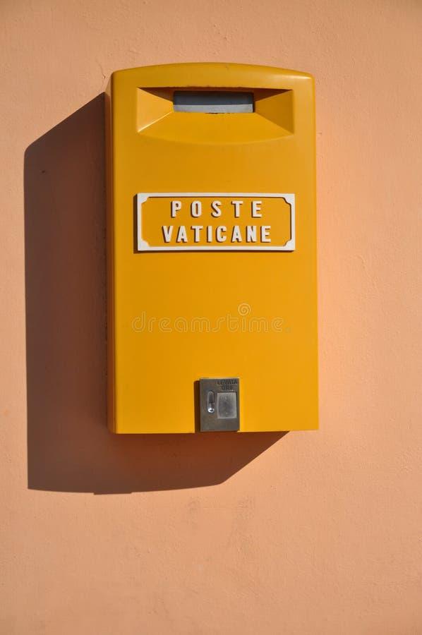 Rectángulo del poste de Vatican imagen de archivo libre de regalías