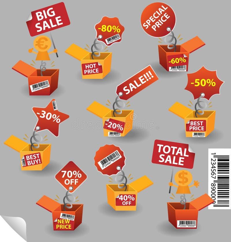 Rectángulo del precio stock de ilustración