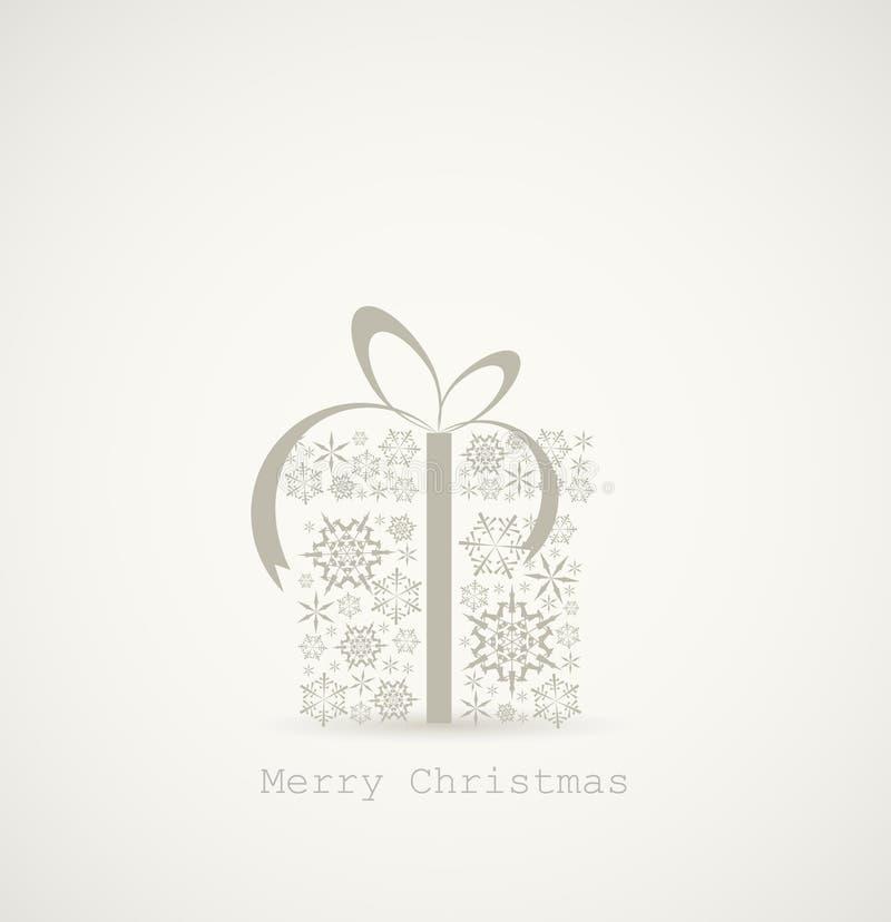 Rectángulo del regalo de Navidad hecho de los copos de nieve ilustración del vector