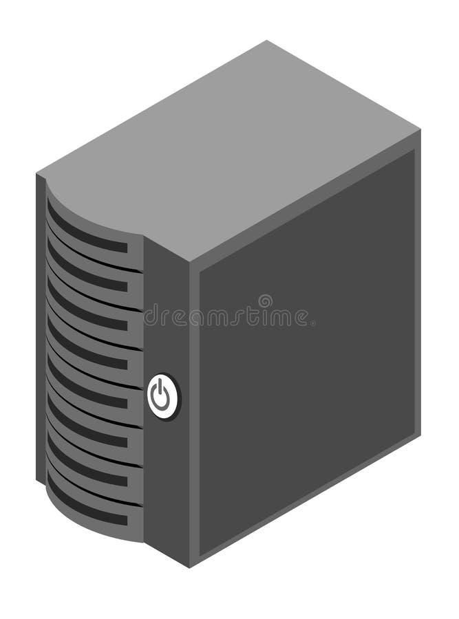 Rectángulo del servidor del ordenador ilustración del vector