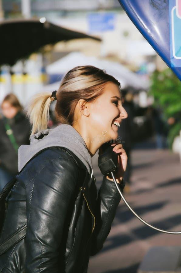 Rectángulo del teléfono público imagen de archivo