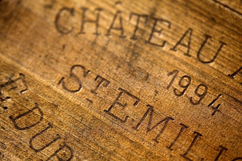 Rectángulo del vino imagen de archivo