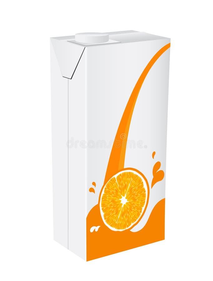 Rectángulo del zumo de naranja ilustración del vector