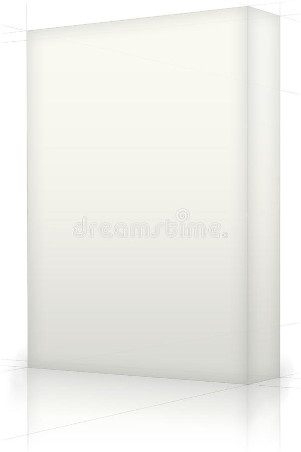 Caja en blanco fotos de archivo