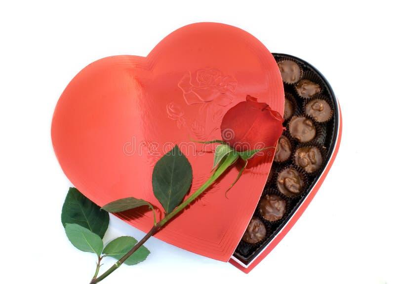 Rectángulo en forma de corazón con una Rose fotos de archivo libres de regalías