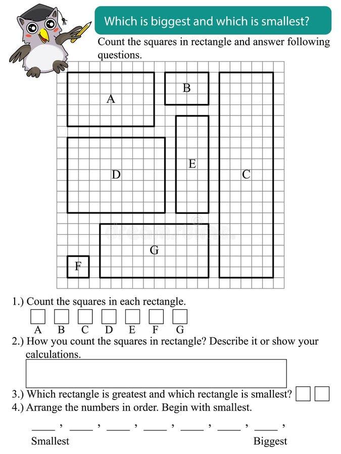 Rectángulo grande de la matemáticas pequeño stock de ilustración