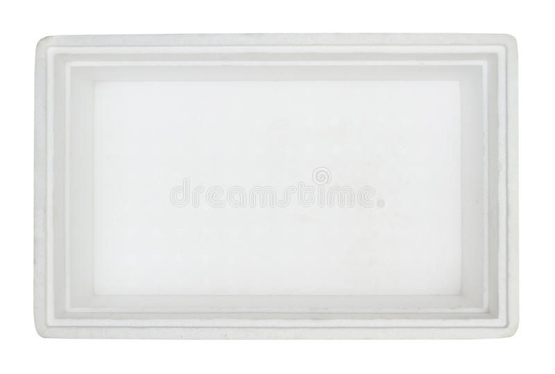 Rectángulo interior de la espuma de poliestireno imágenes de archivo libres de regalías