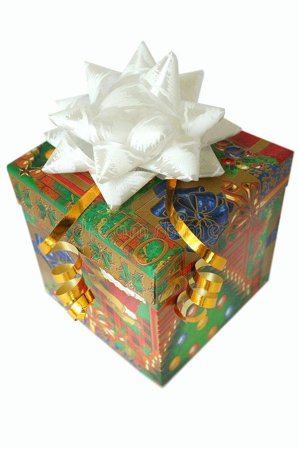 Rectángulo mágico con un regalo fotografía de archivo libre de regalías