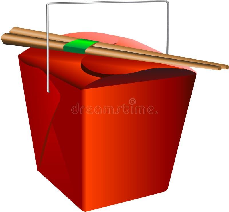 Rectángulo rojo ilustración del vector