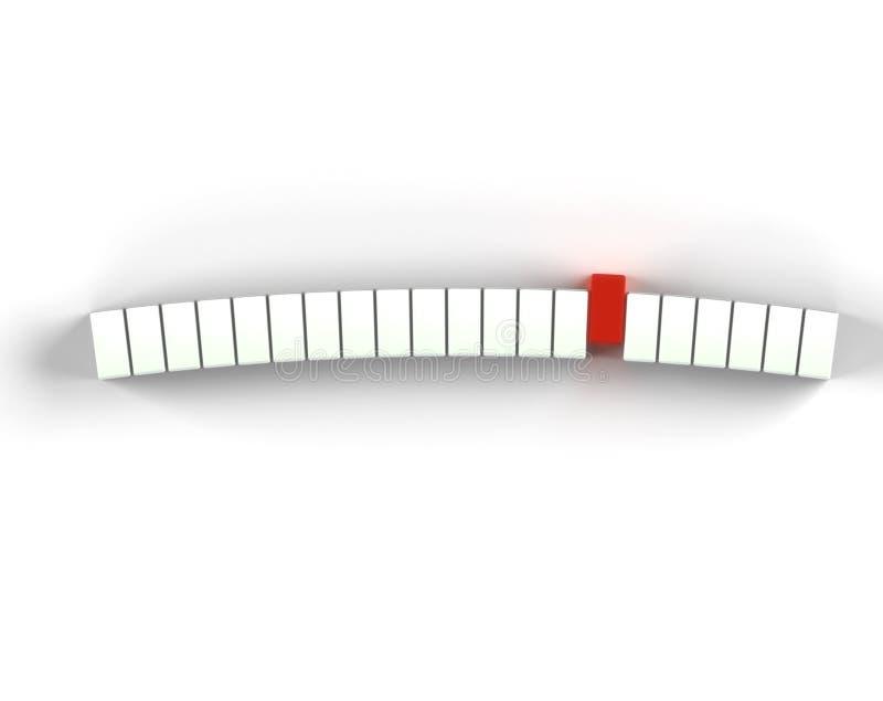 Rectángulo rojo stock de ilustración