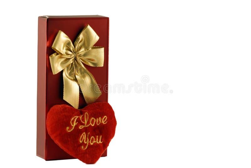 Rectángulo rojo del caramelo con el corazón imagen de archivo libre de regalías