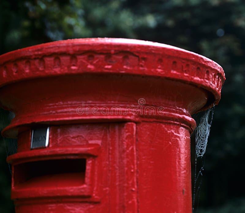 Rectángulo rojo inglés del poste. imagen de archivo