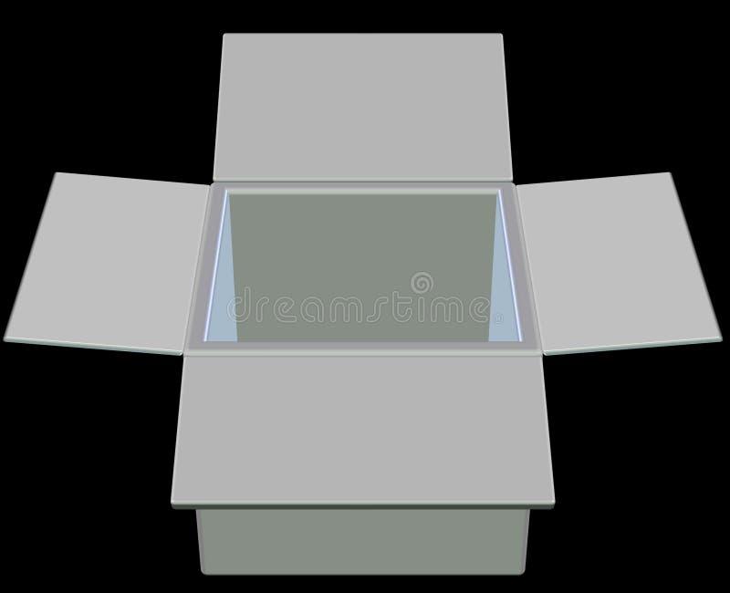 Rectángulo vacío stock de ilustración