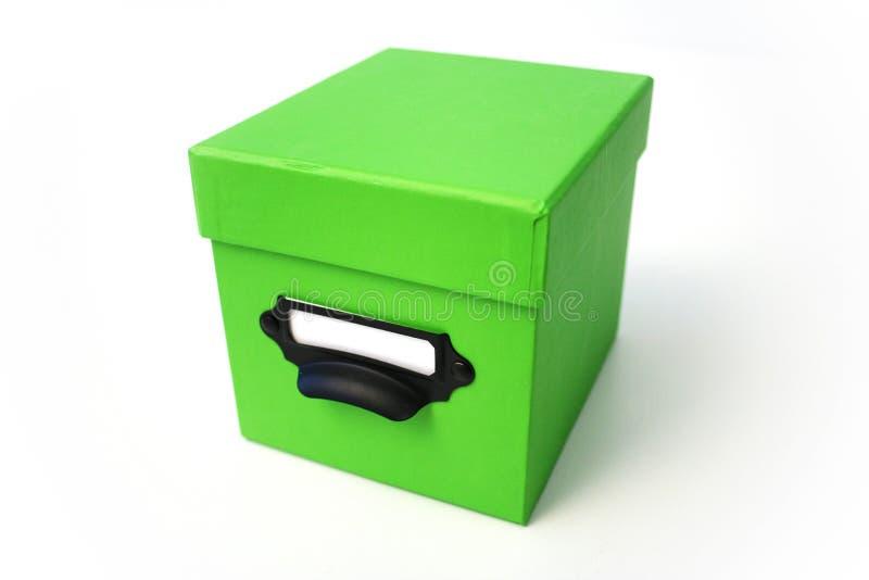 Caja verde fotografía de archivo libre de regalías