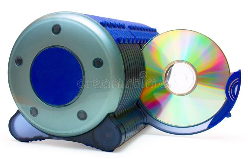 Rectángulo y CD CD en la sección abierta fotografía de archivo libre de regalías