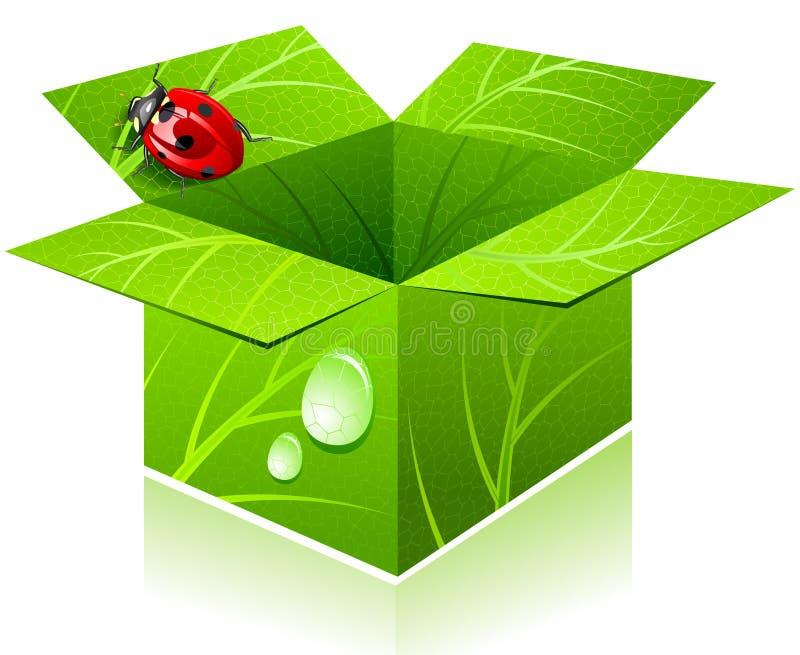 Rectángulo y lady-bug. stock de ilustración