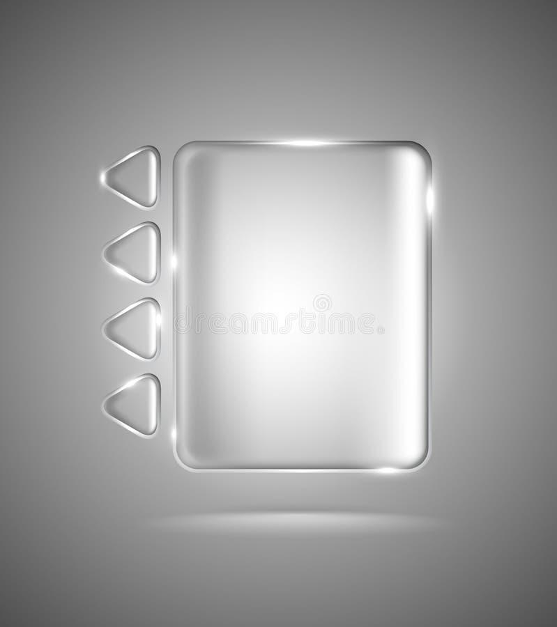 Rectángulo y triángulos de cristal transparentes ilustración del vector