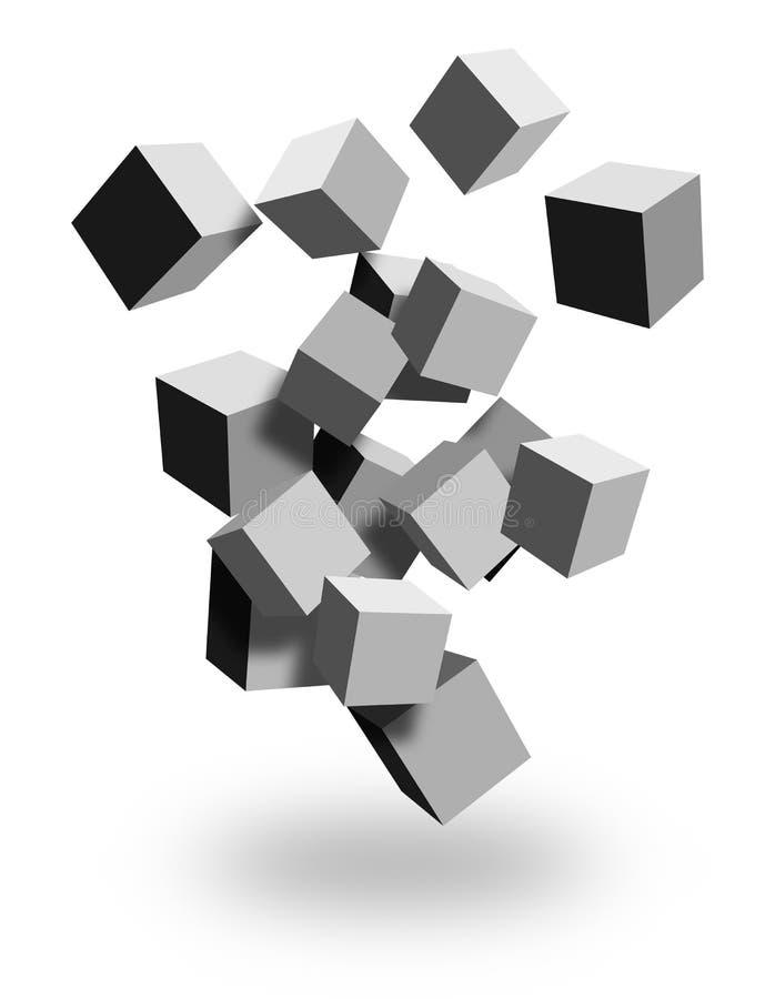 rectángulos 3d stock de ilustración