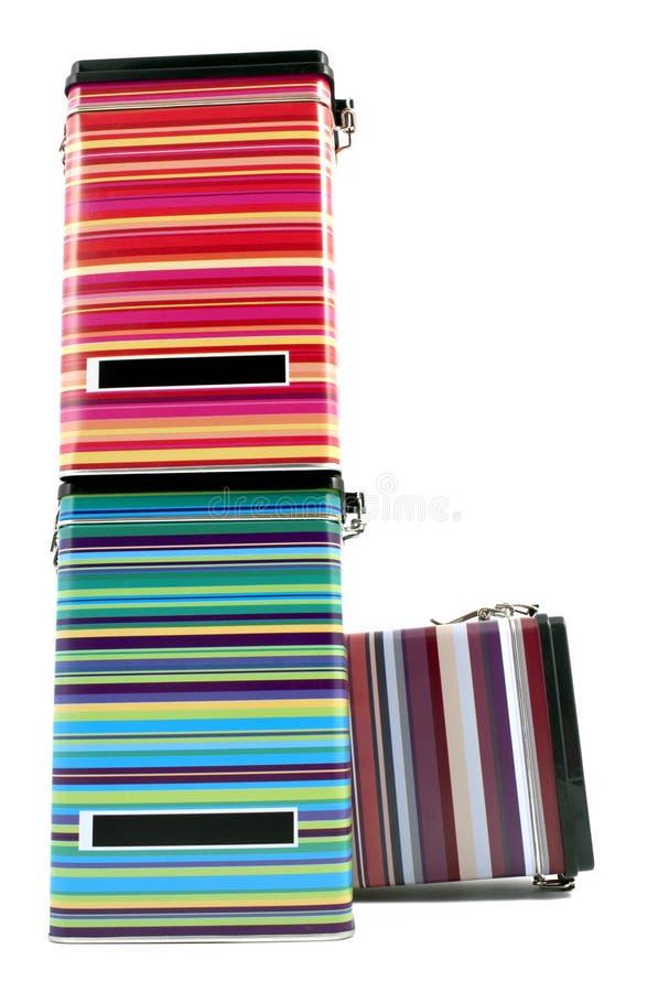 Rectángulos coloridos del estaño fotos de archivo
