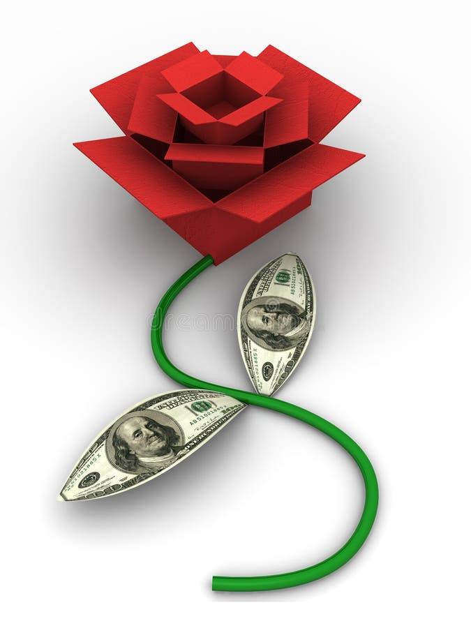 Rectángulos como se levantó con el dinero. Imagen abstracta. 3d libre illustration