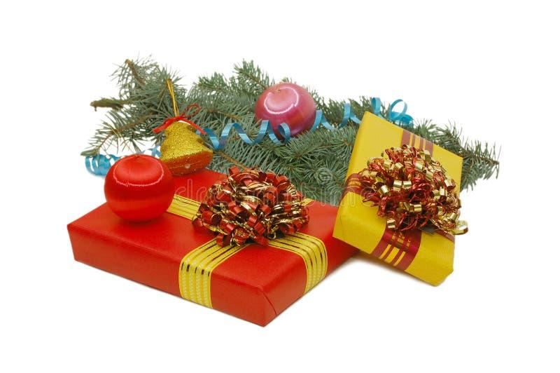 Rectángulos con los regalos imágenes de archivo libres de regalías