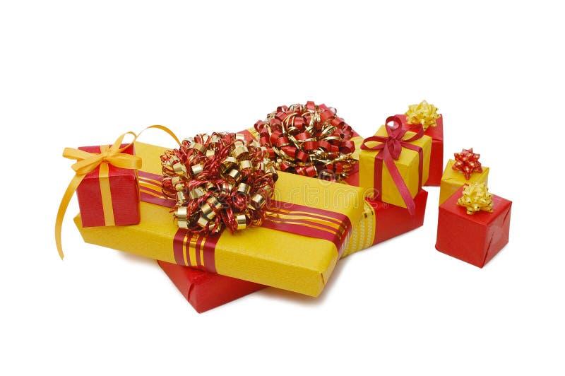 Rectángulos con los regalos foto de archivo libre de regalías