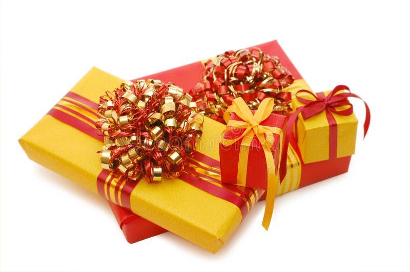 Rectángulos con los regalos fotografía de archivo libre de regalías