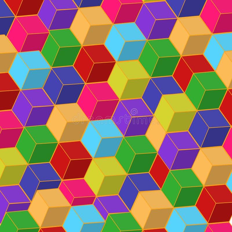 Rectángulos de color ilustración del vector